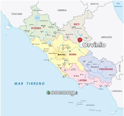 Cosa vedere a Orvinio, mappa