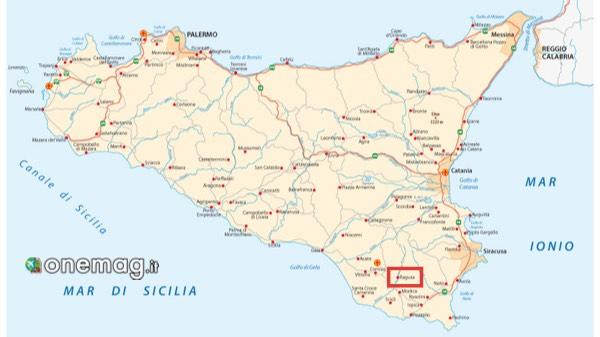 Mappa di Ragusa, Sicilia