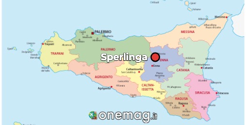 Mappa di Sperlinga, Sicilia