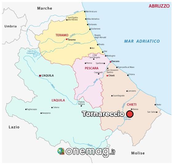 Mappa di Tornareccio