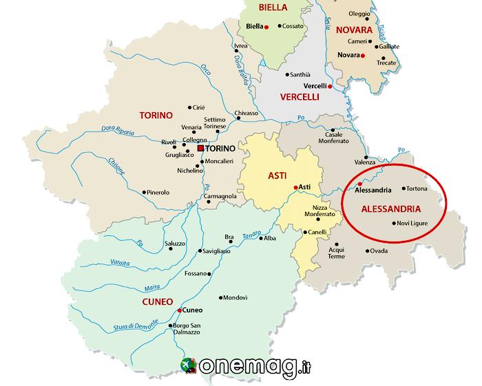 Cosa vedere ad Alessandria, mappa