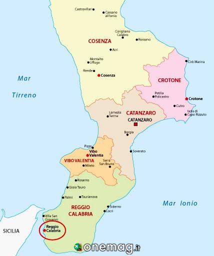 Cosa vedere a Reggio Calabria, mappa