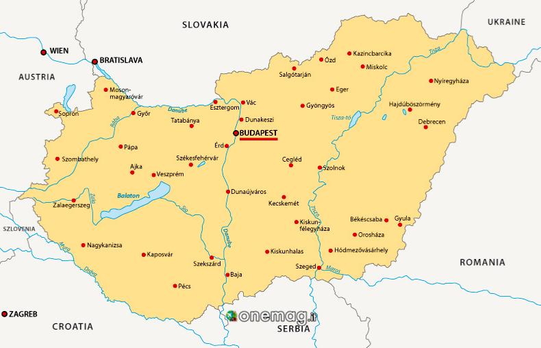 Cosa vedere a Budapest, mappa
