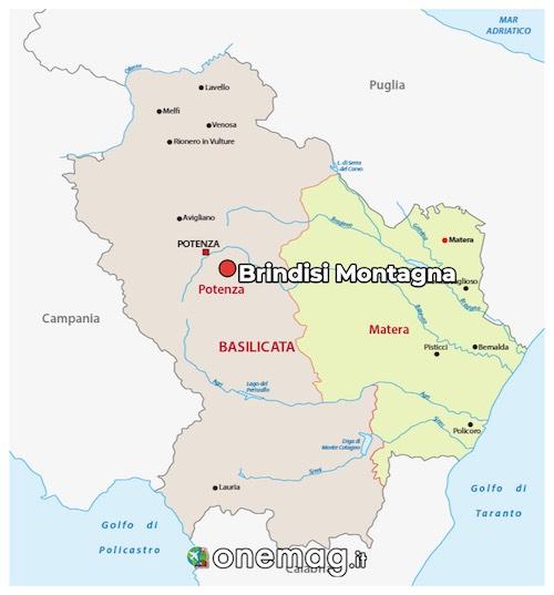 Mappa di Brindisi Montagna