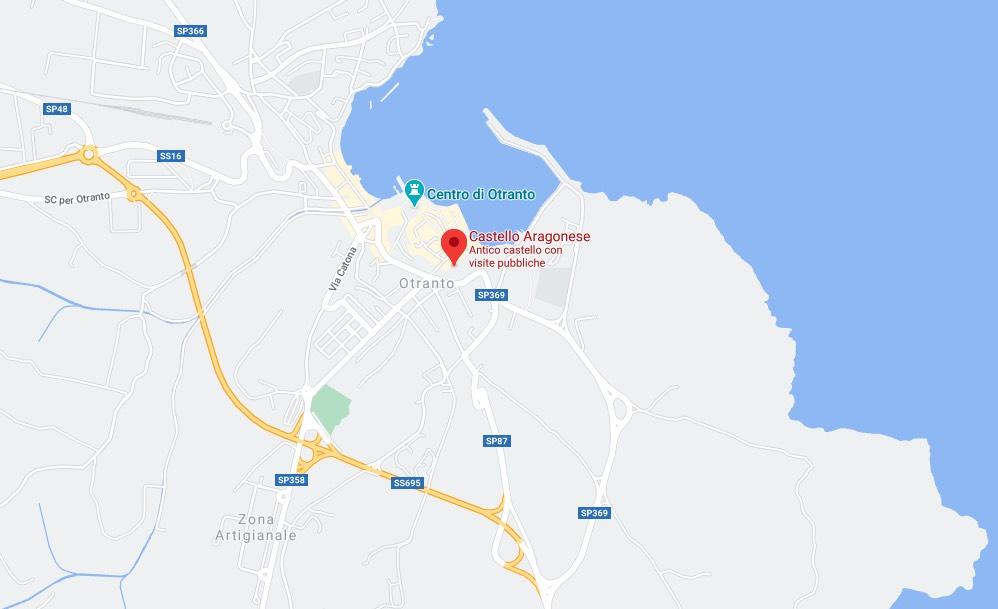 Mappa del Castello Aragonese di Otranto