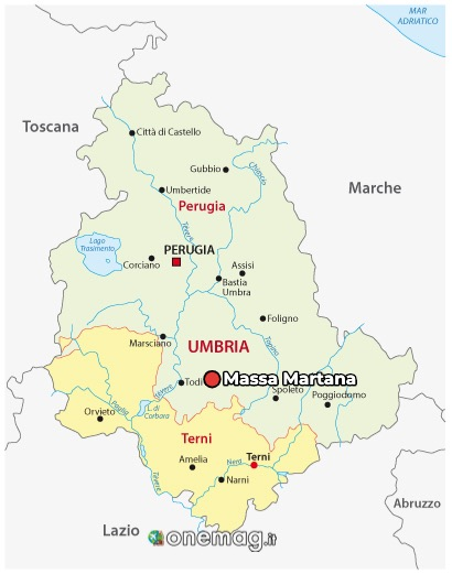Mappa di Massa Martana