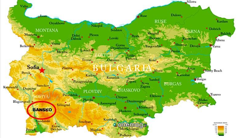 Mappa di Bansko