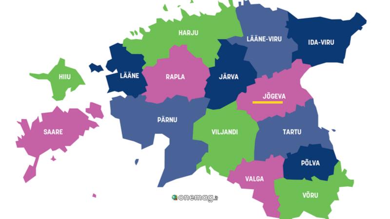 Jovega, Estonia, mappa