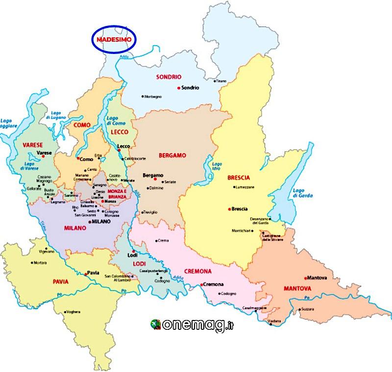 Madesimo, mappa