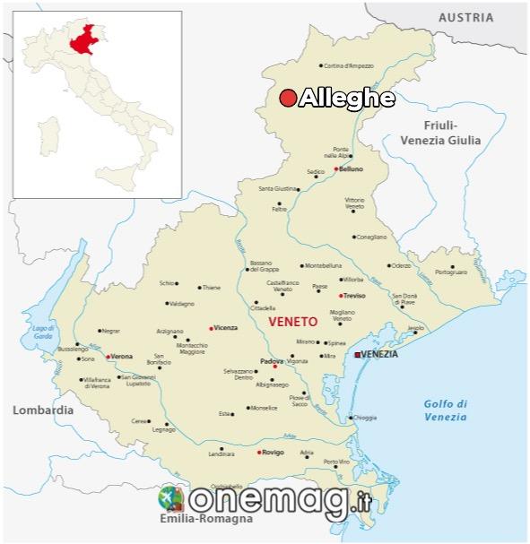 Cosa vedere ad Alleghe, mappa
