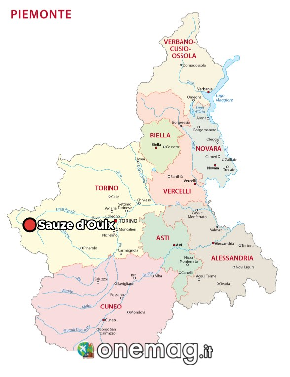 Mappa di Sauze d'Oulx