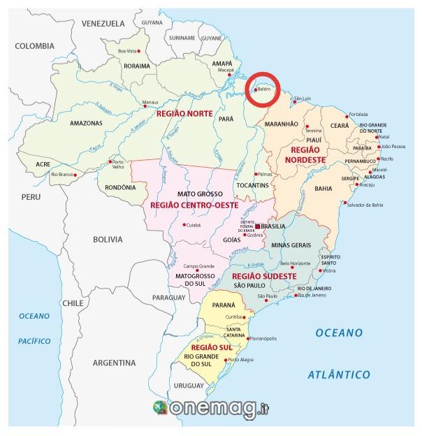 Mappa di Belem, Brasile