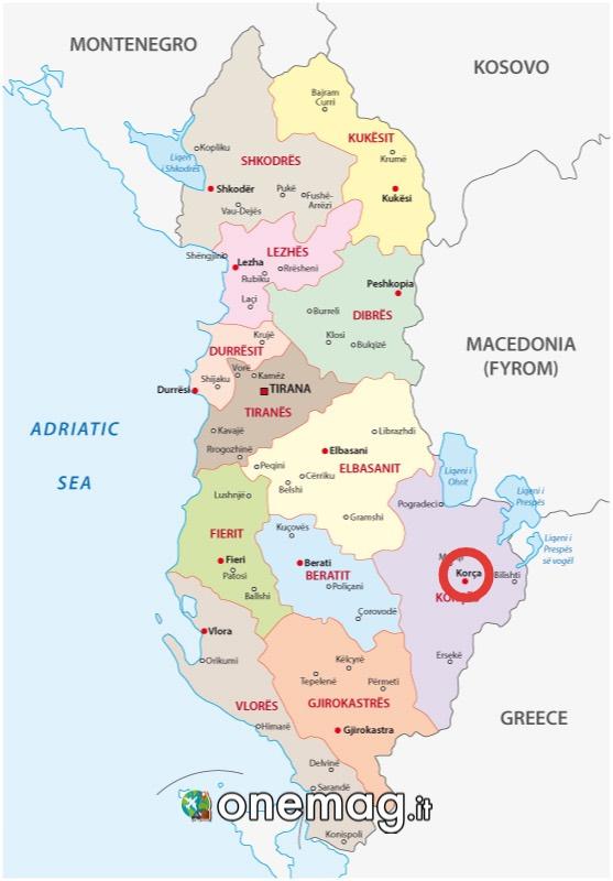 Mappa Coriza, mappa