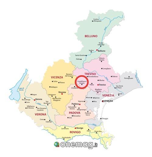 Mappa di Castelfranco Veneto