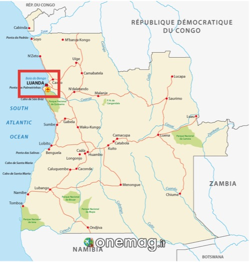 Mappa di Luanda