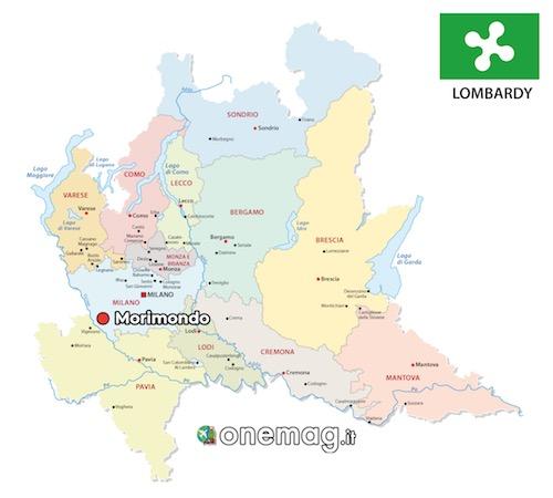 Cosa vedere a Morimondo, mappa