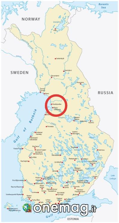 Mappa di Oulu