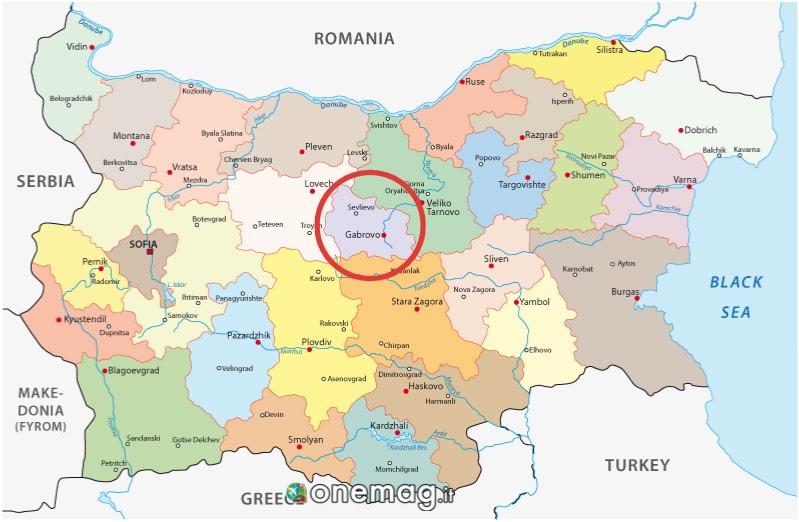 Mappa Gabrovo Distretto