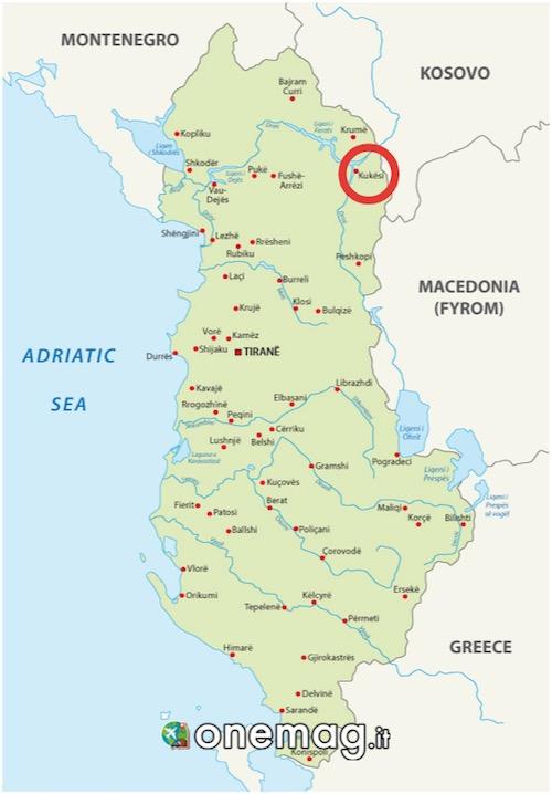 Mappa di Kukes