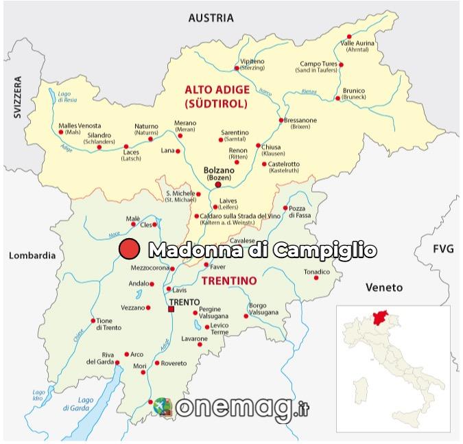 Mappa Madonna di Campiglio