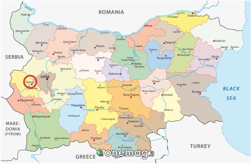 Mappa di Pernik