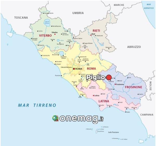 Mappa di Piglio