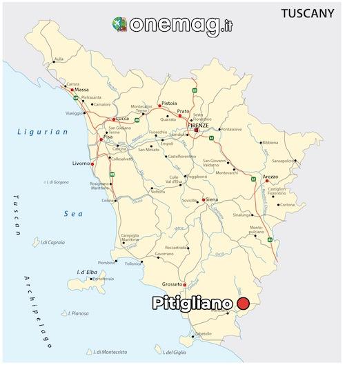 Mappa di Pitigliano