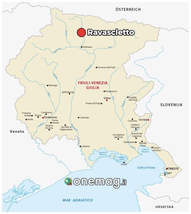 Mappa di Ravascletto