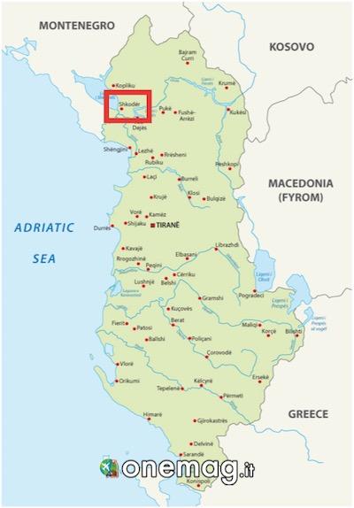 Mappa di Scutari