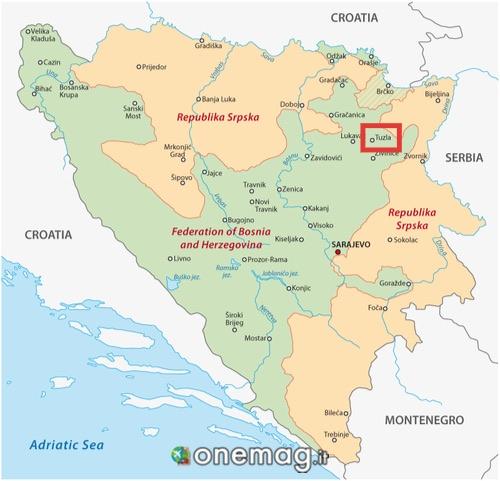 Mappa di Tuzla