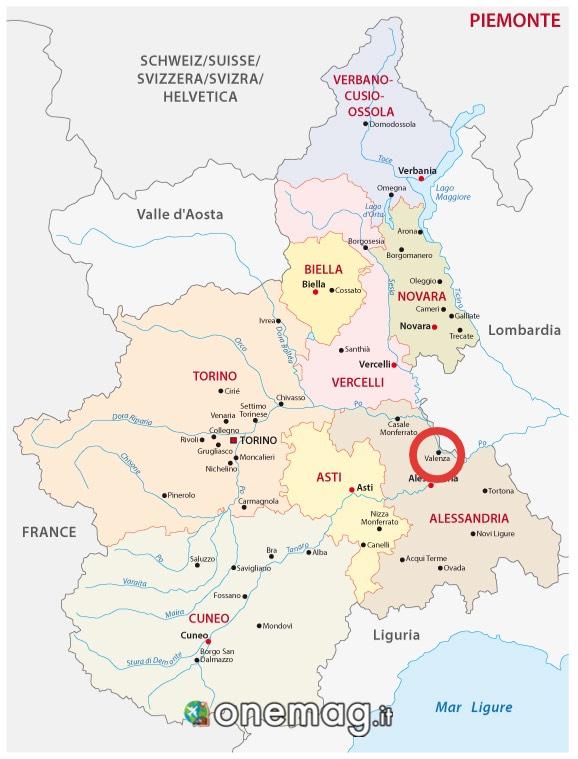 Cartina di Valenza