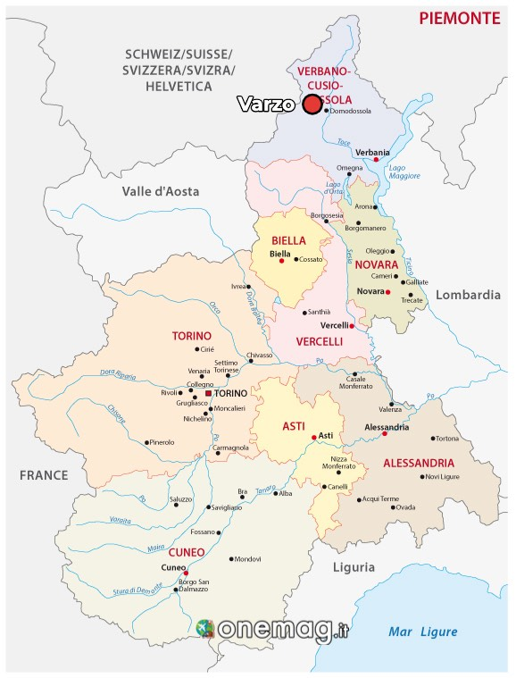 Cosa vedere a Varzo, mappa