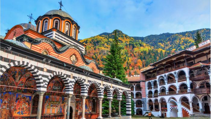 Monastero di Rila, veduta interna