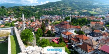 Travnik, Bosnia ed Erzegovina, la città natale del premio nobel Ivo Andrić
