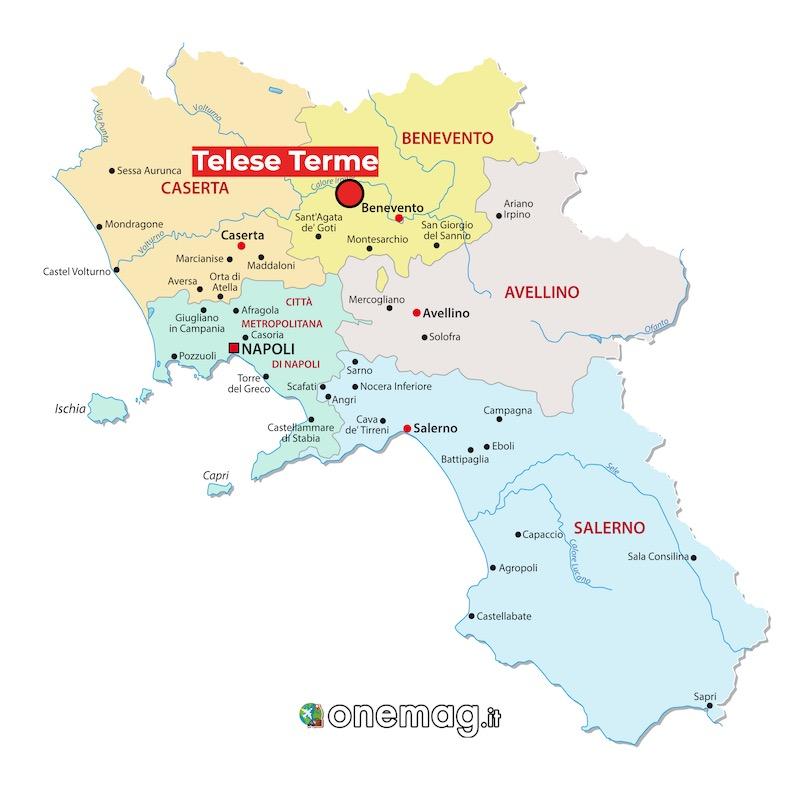 Mappa di Telese Terme