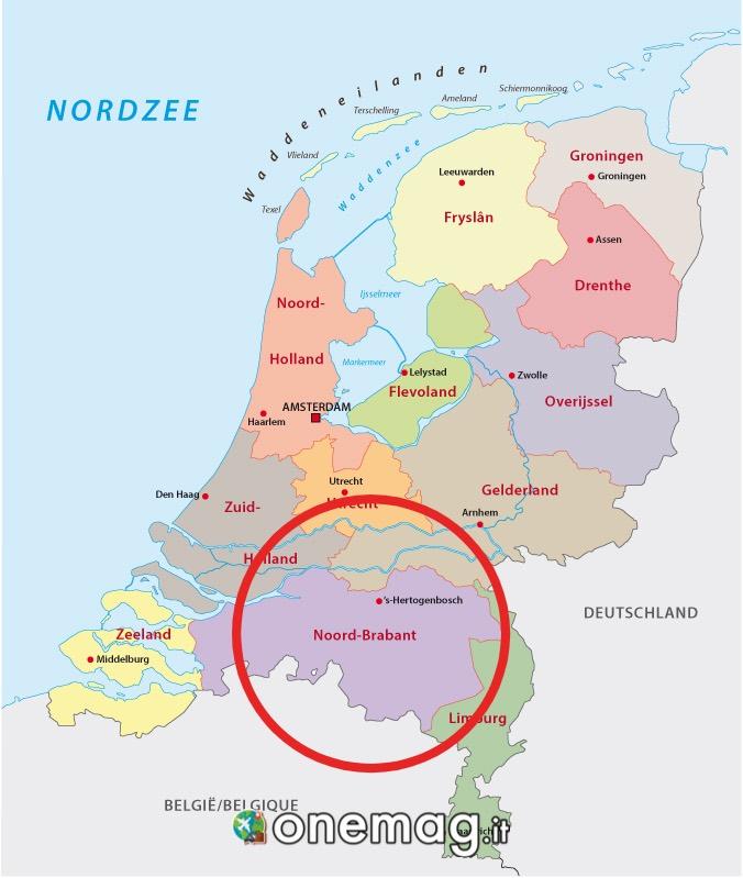 Mappa del bramante settentrionale