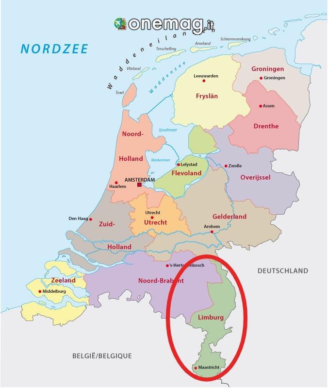 Mappa del Limburgo, Paesi Bassi
