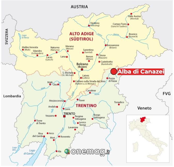 Mappa di Alba di Canazei