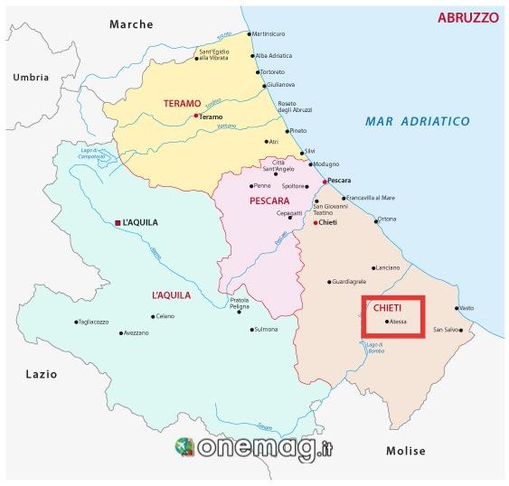 Mappa di Atessa, Chieti