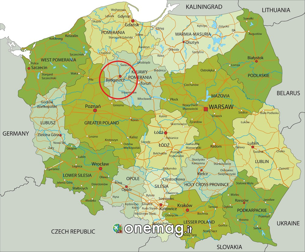 Mappa di Bydgoszcz