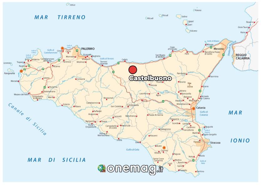 Mappa di Castelbuono