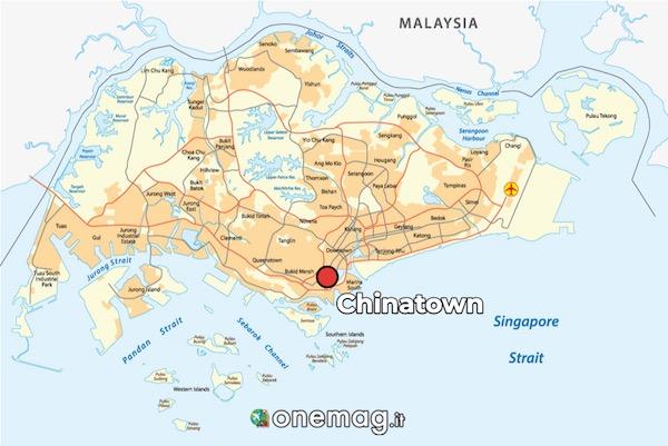 Mappa di Chinatown di Singapore