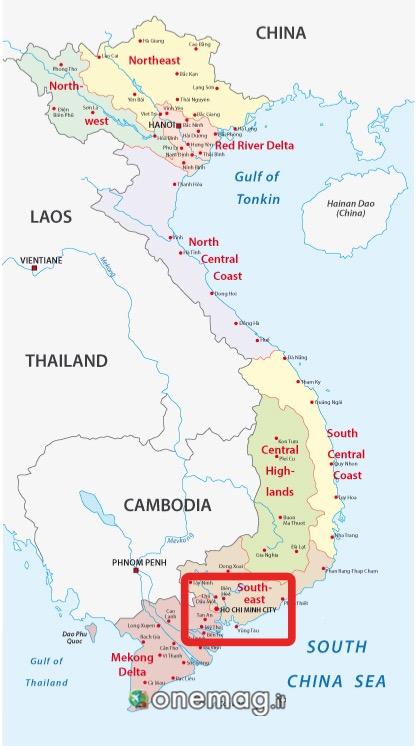 Mappa di Ho Chi Minh City