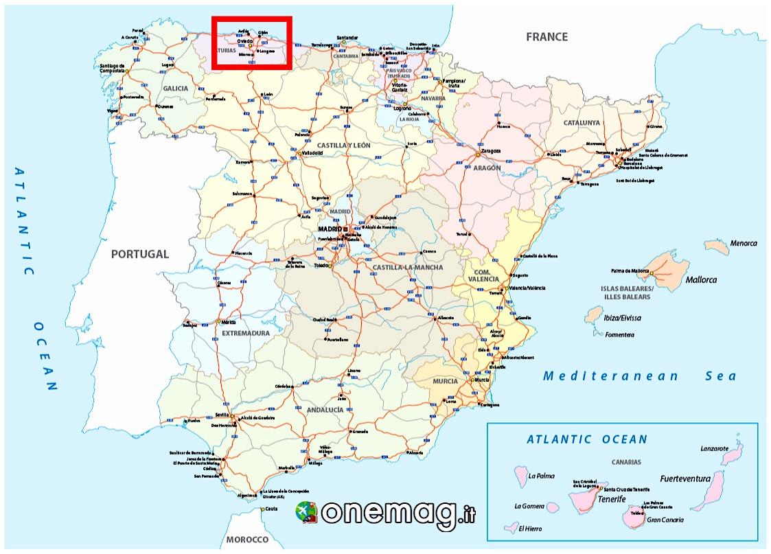 Mappa di Oviedo, Asturie