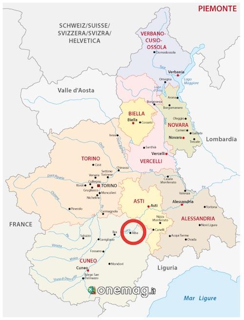 Mappa di Alba