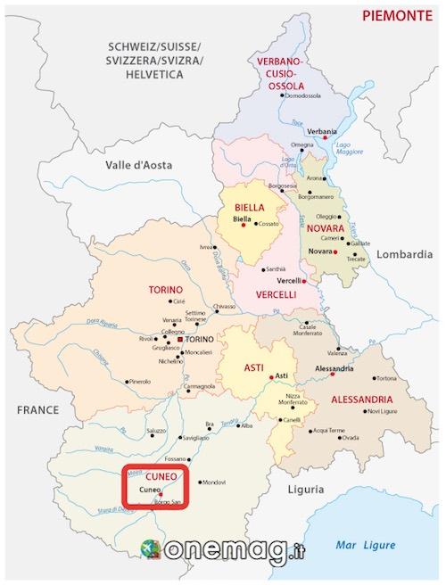 Mappa di Cuneo