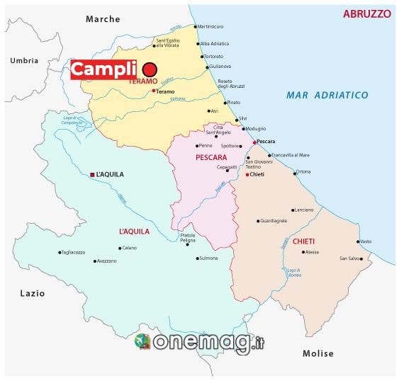 Mappa di Campli, provincia di Teramo