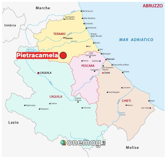 Mappa di Pietracamela