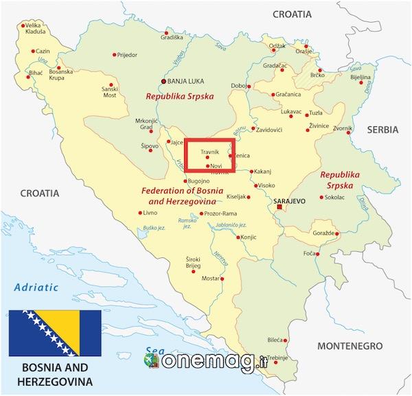 mappa di Travnik