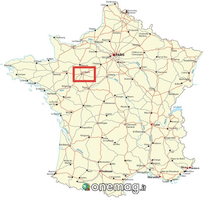 Cosa vedere a Le Mans, mappa